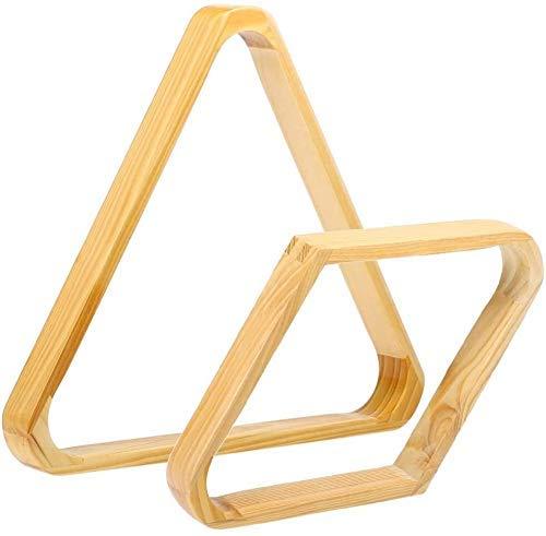 AKAMAS Accesorios de Billar Billar Bola 9 Bastidor Conjunto Diamond Ball 15 Bola triángulo Estante de Madera sólido Conjunto Cue Bastidores Billar Suministro Baib
