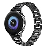 T-BLUER Compatible Samsung Galaxy Watch Active 40mm/Galaxy Watch 42mm Bracelet, Femmes Bling Bijoux Bracelet Réglable en Acier...
