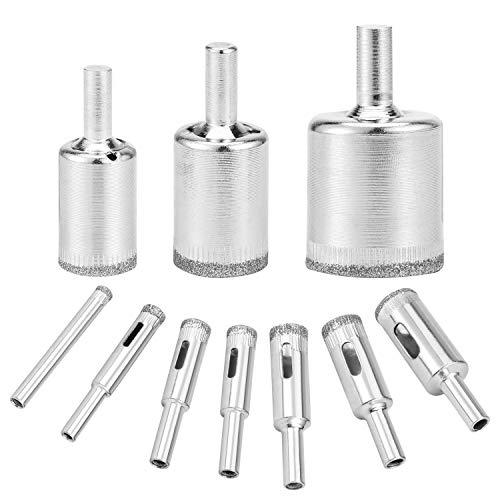 (10 piezas) OOTSR 6-30mm Agujero de Diamante Sierra Broca, Hueco Núcleo Sierra Conjunto para Vidrio, Mármol, Porcelana, Baldosas de Cerámica