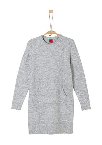 s.Oliver Mädchen 66.909.82.2998 Kleid, Grau (Grey Melange 9400), 164 (Herstellergröße: 164/REG)