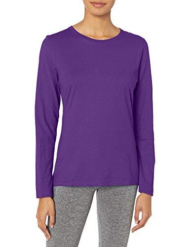 Hanes Women's Long Sleeve Tee, Violet Splendor, XX-Large