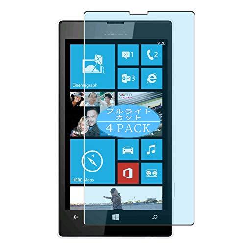 VacFun 4 Pezzi Anti Luce Blu Pellicola Protettiva Compatibile con Nokia Lumia 520, Screen Protector Protective Film Senza Bolle (Non Vetro Temperato) Filtro Luce Blu New Version