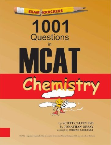 Price comparison product image Examkrackers 1001 Questions in MCAT Chemistry