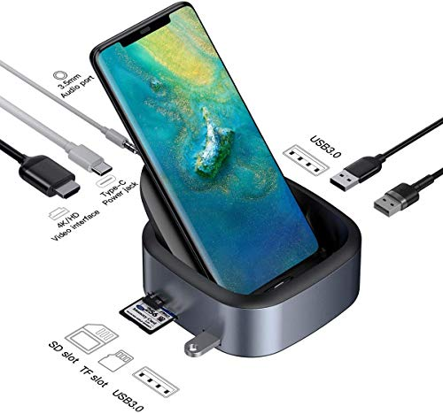 USB-Hub-Typ-C-Adapter, Laptop-Dockingstation und 4K-HDMI-Adapter Desktop-DeX-Station für Samsung Galaxy S10 / S9 / S8 / S10 / S9 / S8 Hinweis 9/8, Huawei Mate 10/10 Pro / 20 Pro, P20 / Pro