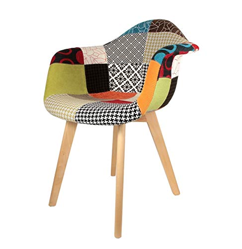 The Home Deco Factory Fauteuil Polyester Multicolore Taille Unique