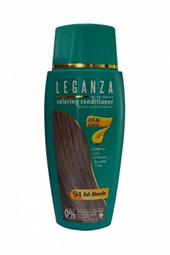 SPARSET 2 x Leganza Färbender Conditioner Farbe 94 Aschblond Mit 7 Natürlichen Ölen Ammoniak und Paraben frei