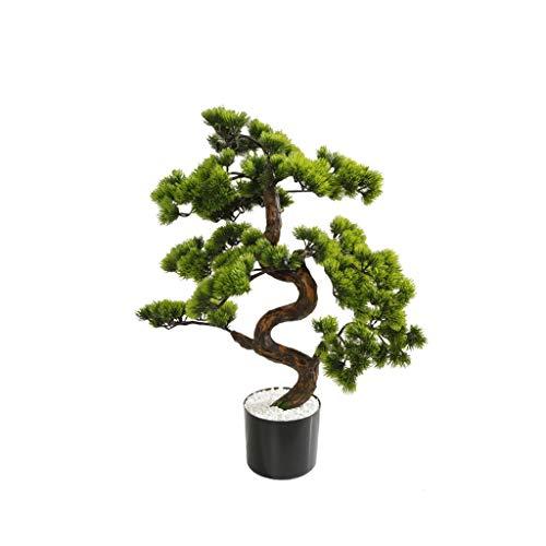 Kunstbaum Künstliche Grünpflanzen Bonsai Simulation Plastic Tree Topfpflanze Topf Verzierungen for Hausgarten-Dekoration Gefälschte Baum Kunstpflanze (Color : A, Größe : 70cm)