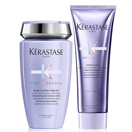 Kérastase Blond Absolu Bain Ultra-Violet 250ml & Blond Absolu Cicaflash Acondicionador 250ml Duo