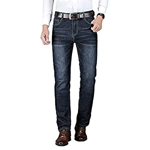 WYX Herren Röhrenjeans 2019 Frühlingsmode Jugend Normallack Slim Fit Stretch Mittlere Taille Gerade Jeans Plus Size,b,35