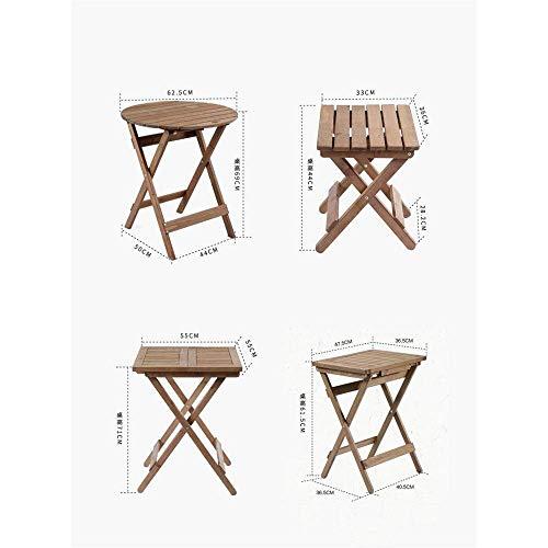 Fanuosu-Sp Fanuosu-Sp, goede salontafel, telefoontafel, tafeltje, opvouwbaar, draagbaar buitenshuis, klein en licht, geschikt voor vissen, Mesa cuadrada plegable central Bruin