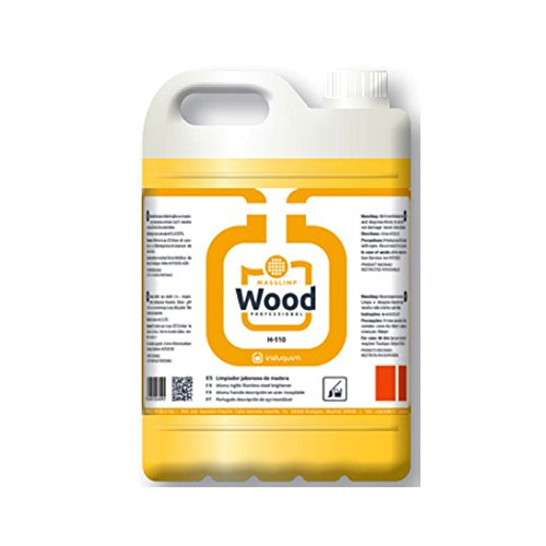 Limpiasuelos de Madera- Fregasuelos Jabonoso 5 Litros, Olor Cítrico- Limpiador Wood diseñado para superficies de madera-corcho, Respeta el brillo natural de la madera