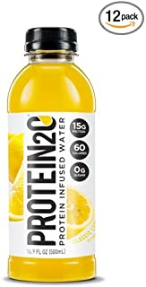 Protein2o Low-Calorie Protein Infused Water, 15g Whey Protein Isolate, Classic Lemonade (Pack of 12)