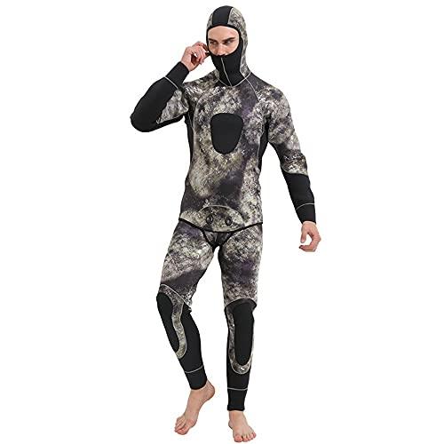 Traje de Buceo Corporal para Hombres Adultos Scuba Buceo Surfing Snorkel Trajes Piragüismo Kayak Trajes para Hacer Surf,Nadar,Bucear (Color : Camouflage, Size : XXL)