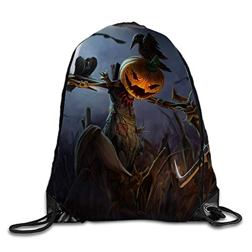 ZHIZIQIU Halloween Scarecrow Backpack for Women & Girls Casual Daypack Book School Bag