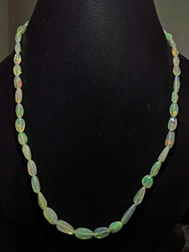 Collar de plata de ley 925 natural AAA+ópalo etíope, Multi Flashes Welo Opal Beads Collar, collar en forma de pepitas de opal, 6-12 mm, 18 pulgadas