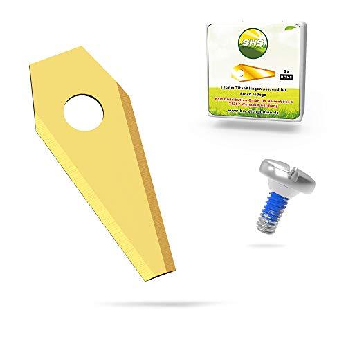 30x TITAN Messer Klingen LONGLIFE geeignet für BOSCH ® INDEGO Mähroboter/passen u.a.für 800, 1000 1200, 350, 400 und 450, einschl. Connect uvm. + 30 Schrauben