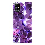 PRINTNAWAB® Abstract Leaves Purple 3D Printed Designer Mobile Case Cover Phone Hard Back Cases and Covers for Samsung Galaxy M51