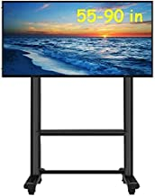TV Stand Pedestal Bracket Heavy Duty TV Cart for 55-90 Inch Flat Screen TV-Tall Adjustable Height Rolling TV Stand for Bed...