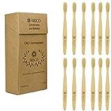 SIDCO SIDCO Bambus Zahnbürste 12 x Bürste natürlich biologisch abbaubar Öko nachhaltig