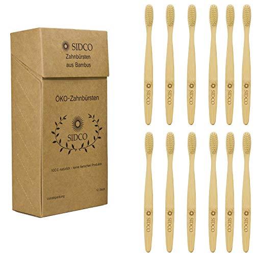 SIDCO - Spazzolino da denti ecologico in legno di bambù