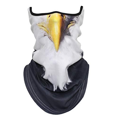 Juliyues Multifunktionstuch Nahtloses Halstuch Schlauchtuch Schal 3D Druck Kopftuch Stirnband Motorrad Bandana Outdoor UV Staubschutz Mund-Tuch in vielen Ausführungen