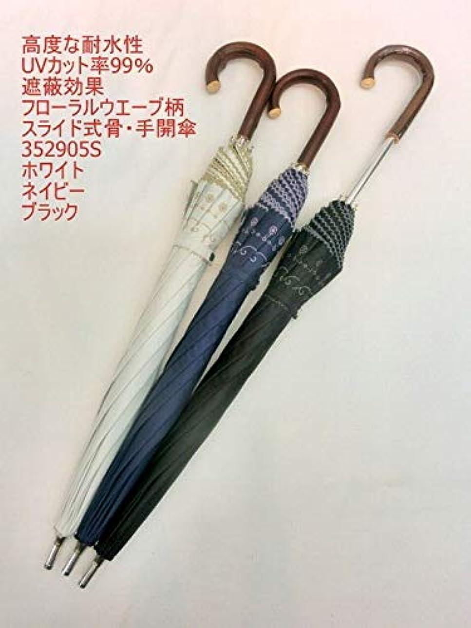 スカリー知る非難晴雨兼用傘 傘 ファッション小物 レディースファッション 長傘高度な耐水性 UVカット99% 遮蔽効果 フローラルウエーブ柄