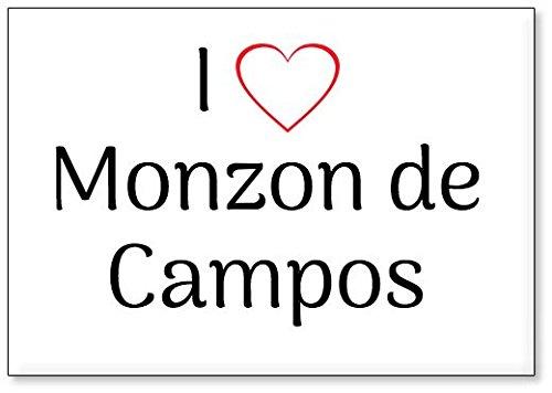 Mundus Souvenirs - Amo Monzon de Campos, Imán para Nevera (diseño 2)