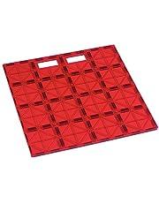 Playmags: Super Duurzaam Bouwen Stabilizer Tegel 12x12 met handvat zodat deze Play, Great toe te voegen aan alle Magnet Tiles Sets, werkt met alle toonaangevende merken (kleuren kunnen afwijken)