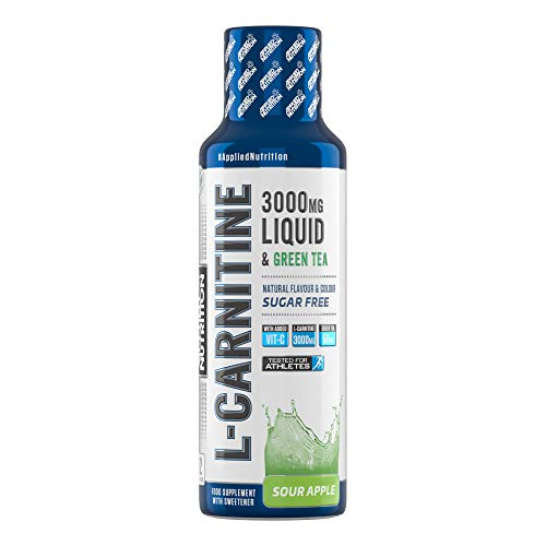 Applied Nutrition L-Carnitine Liquid 3000 & Grüner Tee, Saurer Apfel - 495 ml