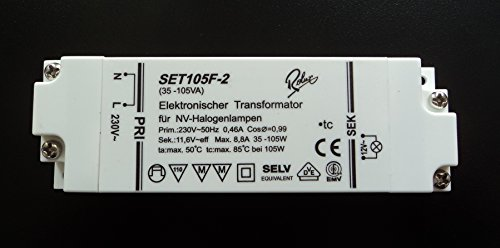 Rolux/Self SET105F-2 (SET105F2) Halogen Trafo Transformator 35-105 Watt dimmbar