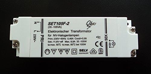 Rolux SET105F-2 (SET105F2) Halogen Trafo Transformator 35-105 Watt dimmbar