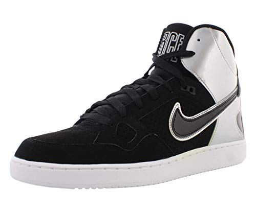 Nike Son of Force Mid Mens Shoes Size 11, Color: Black/Black/Metallic Silver/White