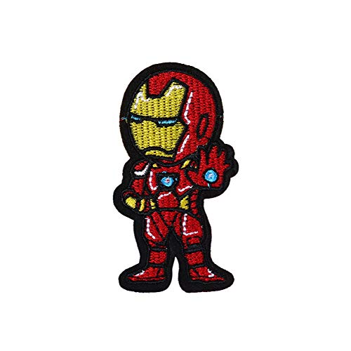 Iron Man lron on Patches, Morale Velcro Patches for Clothing Jeans Jackets Backpack Repair, Aesthetic Super Hero Iron on Decals Embroidery Cloth (Iron Man1)