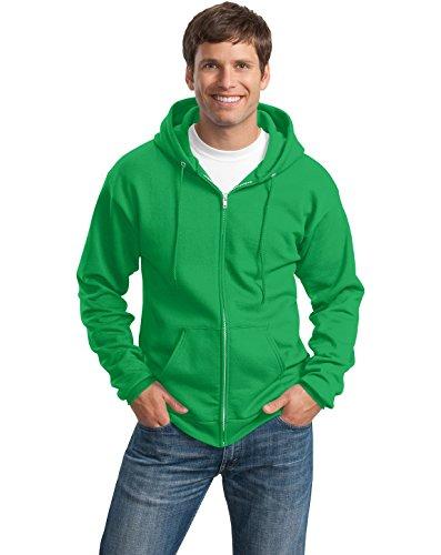Port & Company Sweat-shirt à capuche classique zippé pour homme - Vert - Large