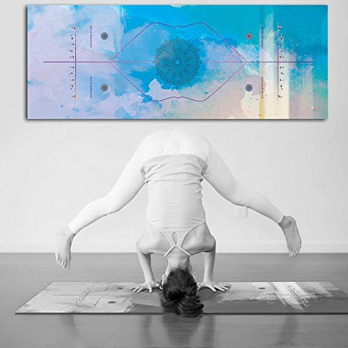 Estera de Yoga Yoga Pad Toalla Anti Slip Print Absorbente De Sudor Estera De Pilates Culturismo Plegable Suave Playa Al Aire Libre Gimnasia Ejercicio