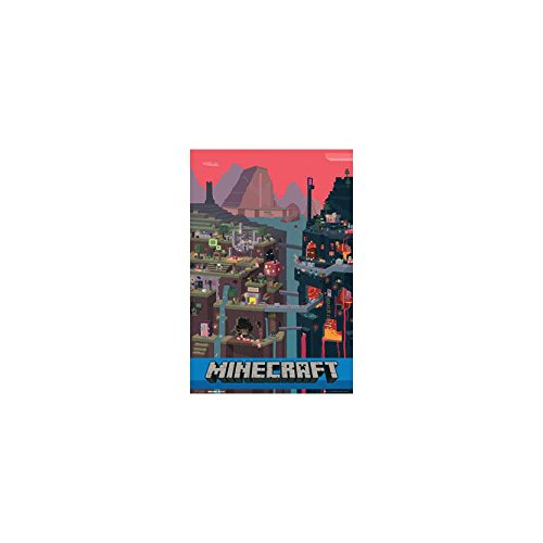 GB eye Minecraft World Poster Plakat Bild