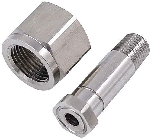 Manloney LLC Universal CGA320 / CGA347 / CGA540 / CGA580 / CGA580 to CGA320 Air Cylinder Regulator Inlet Nut & Nipple Adapter Fittings (CGA320 Inlet Nut & Nipple - Stainless Steel)