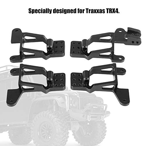 Dilwe RC Schwingungsdämpfer, 4 Stück Aluminiumlegierung vorne hinten einstellen Stoßdämpferhalterung für TRAXXAS TRX-4( Schwarz)