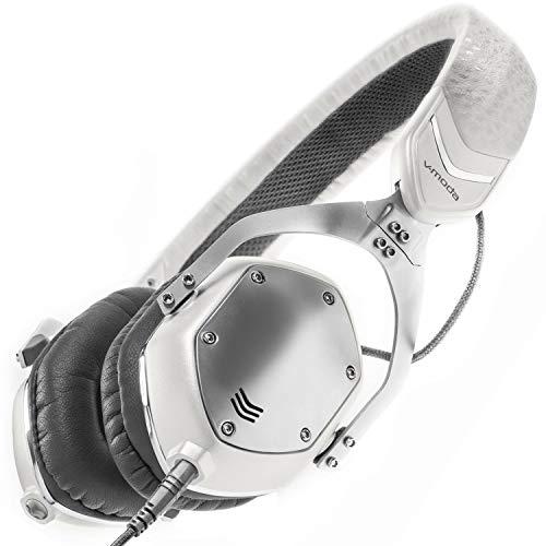 V-Moda XS Cuffie Sovraurali in Metallo con Isolamento dal Rumore - White Silver
