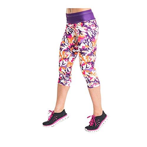 Nessi OSTK Pantalon de Course 3/4 pour Femme Respirant Violetgarden - 23 Violetgarden - XS-S