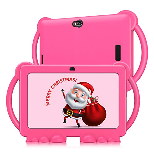 Xgody T702 7 inch Kids Tablets, 1GB RAM 16GB ROM, Android 9.0 Tablet, Touch Screen with WiFi Pre-Loaded 3D Game Dual Camera Kids-Proof Case Android Tablet Pink