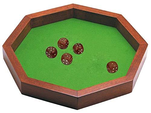 SKAVIJ Gifts Wooden Handmade Octagon Dice Rolling...
