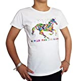 Je Peux Pas J'ai Licorne T-Shirt Blanc Enfant Manches Courtes avec Licorne Imaginaire (12/13 Ans)