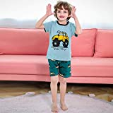 LinZX Pijamas para niños Pijamas para los Animales de los Muchachos Frescos Rocket Set Pijamas Impresos,Car,3T