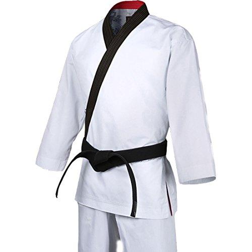 Mooto Taekwondo Grand Master geum Gang BK-Cuello Uniforme Artes Marciales dobok 170 (160~170cm) (5,24~5.57ft) Negro con Cuello en V