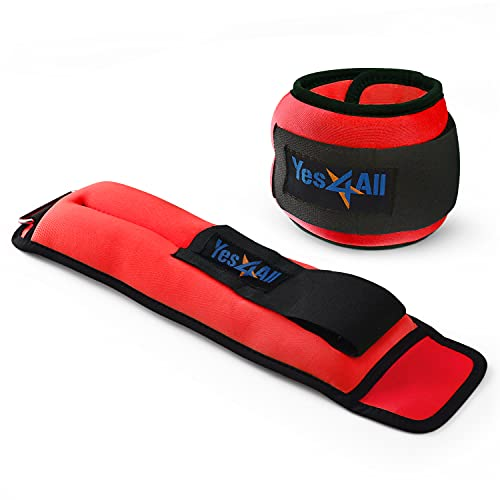 Yes4All 5 lbs Ankle Weights/Wrist Weights for Women and Men...