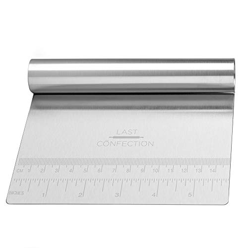 Last Confection Stainless Steel Bench Scraper/Pastry Dough Cutter Chopper for Bread, Pizza, Pasta and Cookies