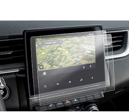 LFOTPP Captur Clio 5 Zoe 7 Pulgadas Protector Pantalla Navegación, PET Película Protectora GPS Radio Coche Interior Accesorios (2 unidades)