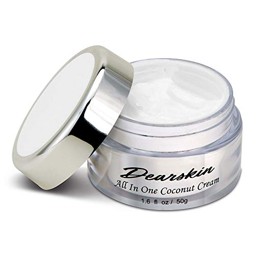 Whitening Face Moisturizer Anti-Wrinkle Coconut Cream Vegan Organic Cruelty Free Day and Night Moisturizing Skin Care Best Natural Formula with Hyaluronic Acid, Vitamin C, Kojic Acid, B Complex