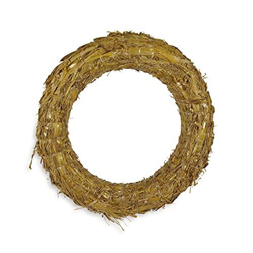 Riffelmacher 75090 - Corona di paglia, diametro 20 cm, decorazione per fiori, Natale, bricolage, primavera, autunno